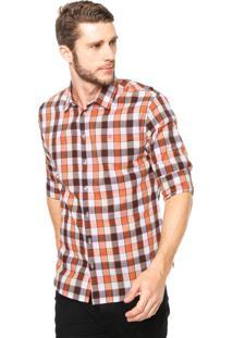 Camisa Forum Xadrez Laranja
