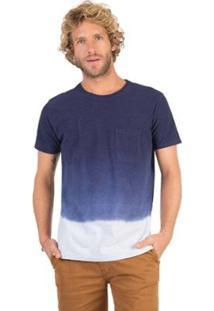Camiseta Flame Com Bolso Tie Dye Taco Masculina - Masculino-Marinho