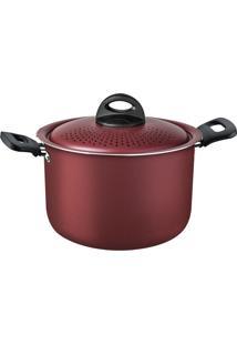 Panela Espagueteira Tramontina 27817025 Loreto 5.7 L Antiaderente Vermelha