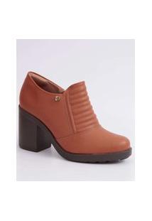 Bota Feminina Ankle Boot Salto Grosso Quiz