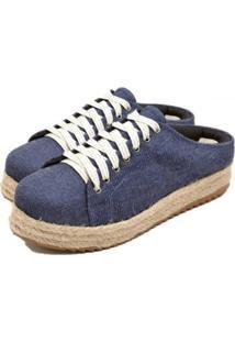Tênis Flor Da Pele Flat Form Jeans