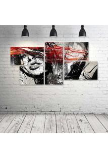 Quadro Decorativo - Those-Lips-Digital-Art - Composto De 5 Quadros