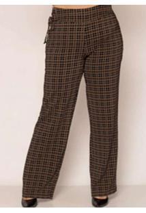 Calca Almaria Plus Size Pianeta Pantalona Estampad