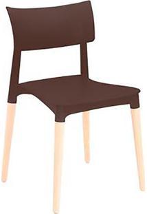Cadeira Flat- Marrom & Bege Claro- 74,5X42,5X44,5Cm