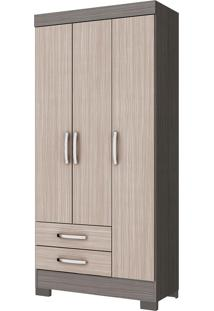 Guarda-Roupa Diamante 3 Portas Gris E Palha Be16-74 Briz