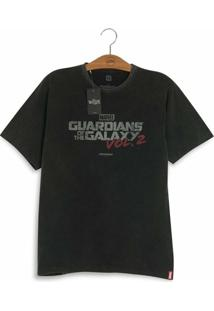 Camiseta Studio Geek Marvel Logo Guardiões Da Galáxia Volume 2 - Masculino