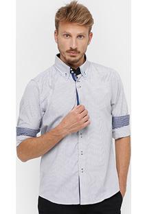 Camisa Blue Bay Listrada Vira Xadrez Masculina - Masculino