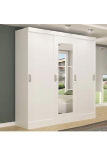 Guarda-Roupa Casal 3 Portas De Correr 100% Mdf Com Espelho 4228-1 Branco - Maxel