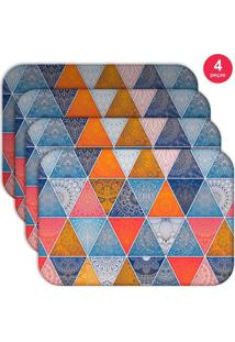 Jogo Americano Love Decor Wevans Geometric Abstract Mandalas Kit Com 4 Pçs