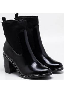 Ankle Boot Bebecê Verniz Preta 39