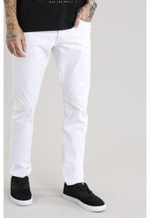 Calça De Sarja Masculina Slim Branca