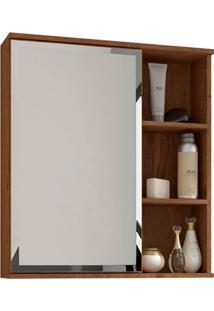 Espelheira Suspensa Para Banheiro Treviso 63,5X55,8Cm Amêndoa