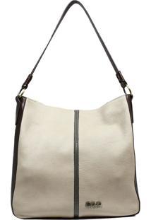 Bolsa De Couro Recuo Fashion Bag Sacola Cacau/Tabaco