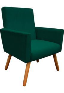 Poltrona Decorativa Nina Peach Verde Esmeralda D'Rossi