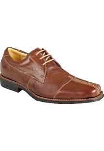 Sapato Social Derby Sandro Moscoloni Renow Masculino - Masculino-Marrom Escuro
