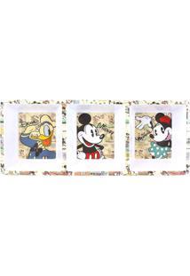 Petisqueira Mickey Mouse® - Branca & Bege - 5X20X10Czona Criativa