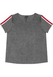 Blusa Viscotorcion Rovitex Plus Feminina - Feminino-Cinza