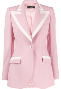 Dolce & Gabbana Blazer Com Forro - Rosa