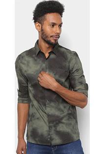 Camisa Lacoste Live Bicolor Masculina - Masculino-Verde Escuro+Preto