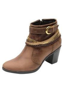 Bota Country Escrete Ankle Boot Cano Médio