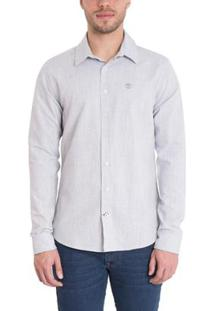 Camisa Timberland Mill River Linen Regular Masculina - Masculino-Azul Claro
