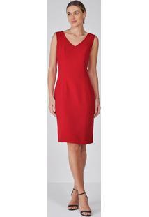 Vestido Tubinho Vermelho