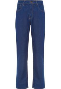 Calça Masculina Jeans Slim Straight - Azul