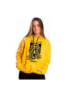 Blusa Moletom Canguru Amarelo Dm Damando