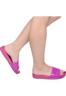 Chinelo Feminino Flip Flop Slide Santa Lolla Rosa Fucsía