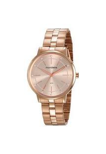 Kit Relógio Feminino Mondaine 53749Lpmvre2Ka Analógico 5Atm + Semijóia | Mondaine | Rosa | U