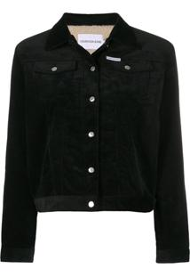 Calvin Klein Jeans Corduroy Trucker Jacket - Preto