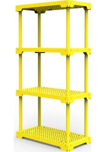 Estante Poly Com 4 Prateleiras Amarelo