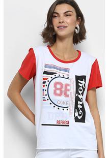 8ca62d69d7 ... Camiseta Coca-Cola Aroma Estampada Feminina - Feminino-Vermelho