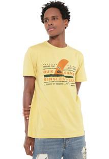 Camiseta Quiksilver Slim Fit Wave Amarela