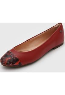 Sapatilha Capodarte Cobra Vermelha - Vermelho - Feminino - Dafiti