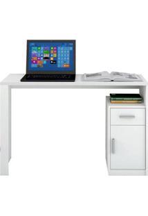 Escrivaninha Luminus 1 Porta 1 Gaveta Mavaular -Branco