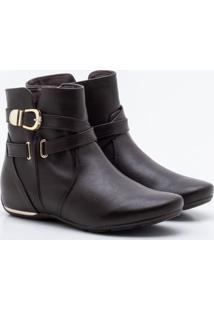Ankle Boot Comfortflex Marrom 35