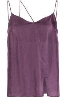 1017 Alyx 9Sm Three-Strap Asymmetric Top - Roxo