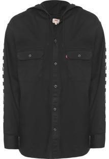 Camisa Masculina Capuz - Preto