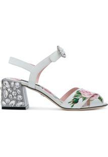Dolce & Gabbana Sandália 'Keira' Em Couro - Branco