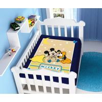 faf7954682 Cobertor Disney Mickey Soninho Azul Marinho Jolitex