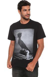 Camiseta Reserva Xadrez Preta