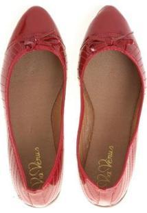 Sapatilha Bico Fino Vermelha - Feminino-Vermelho