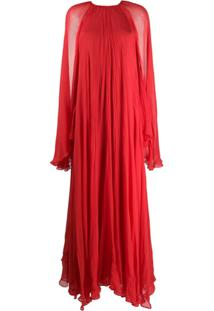 Irina Schrotter Vestido De Festa - Vermelho