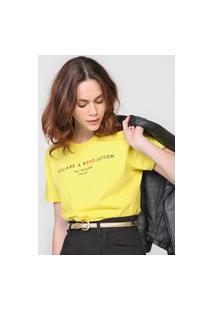 Camiseta Colcci Revolution Amarela