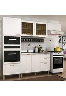 Cozinha Completa 6 Peã§As Americana Multimã³Veis 5913Mf Branco/Grafite - Branco/Incolor - Dafiti