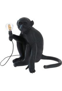 Seletti Abajur Monkey Sitting - Preto