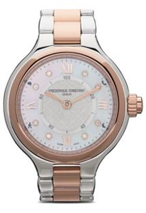 Frédérique Constant Smartwatch Delight Notify 34 - Silver Color Dial With Guilloché Decoration And Mother Of Pearl