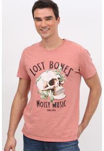 "Camiseta ""Noisy Music"" - Rosa & Preta - Colccicolcci"