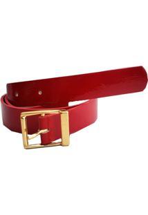 Cinto Lua Nova Fashion Verniz Vermelho - Vermelho - Feminino - Dafiti